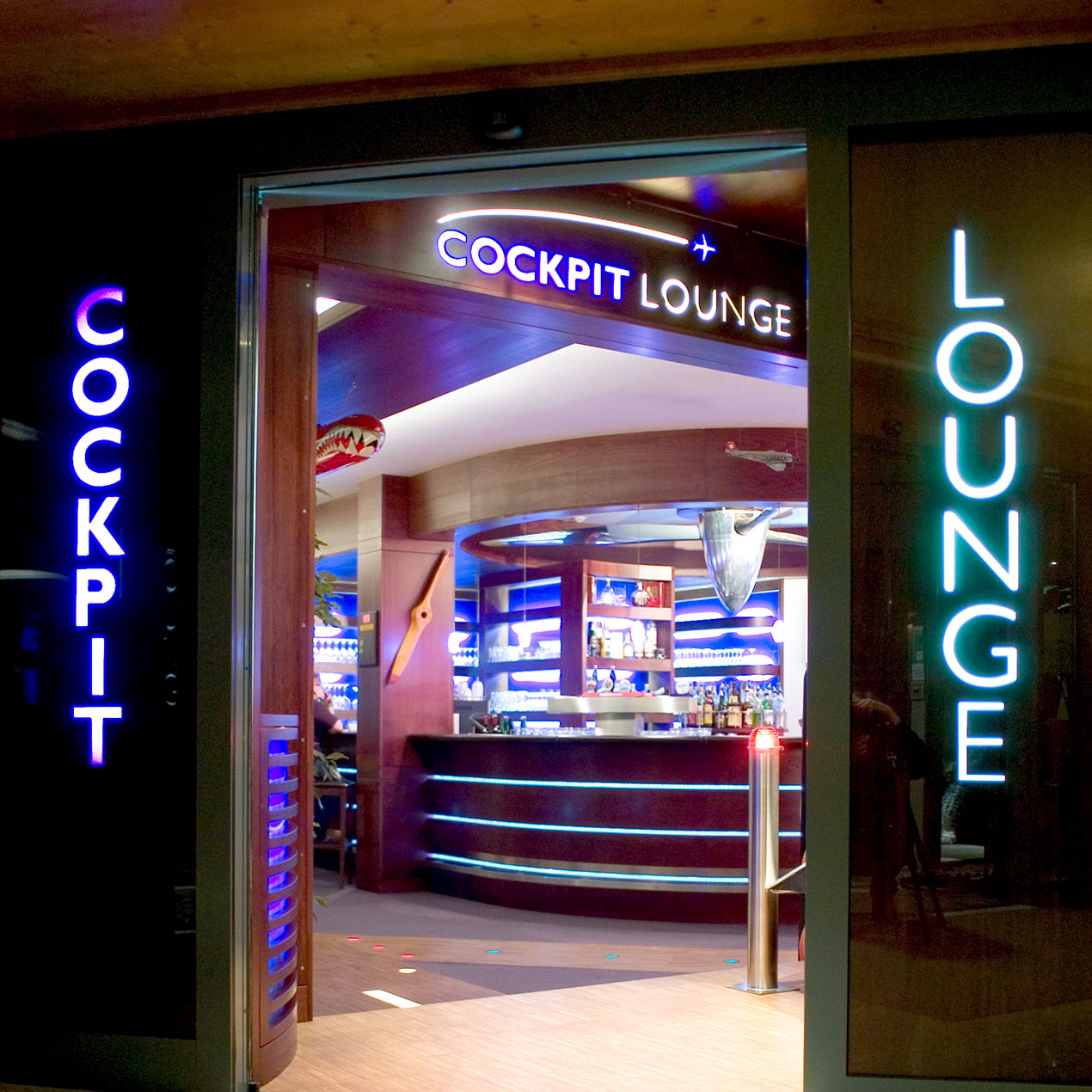 Entrance to the Cockpit Lounge